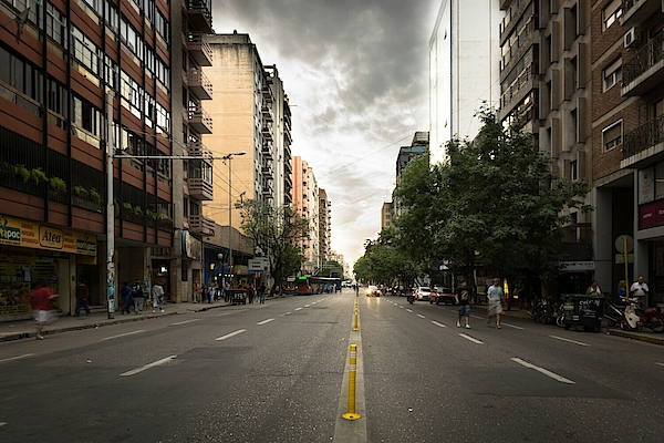 Empty Road Along Buildings Photograph by Andres Ruffo / EyeEm