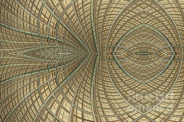 Mesh Digital Art - Enmeshed by John Edwards