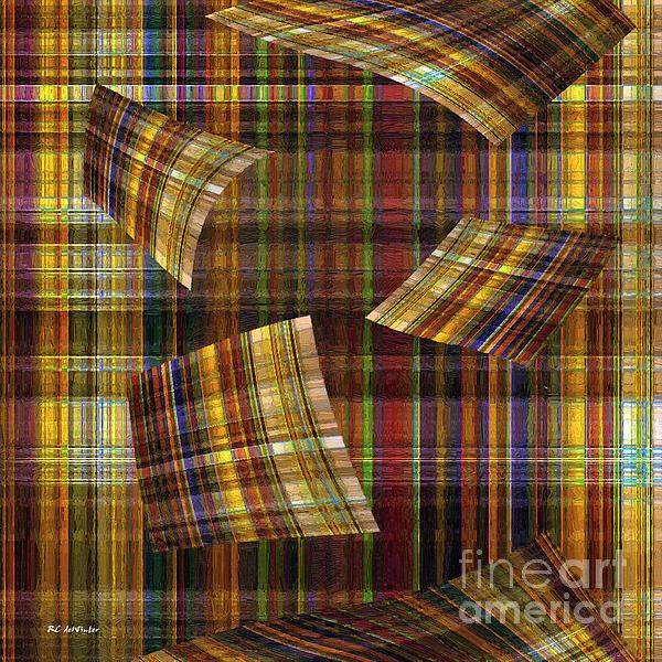 Plaid Painting - Entropy by RC deWinter