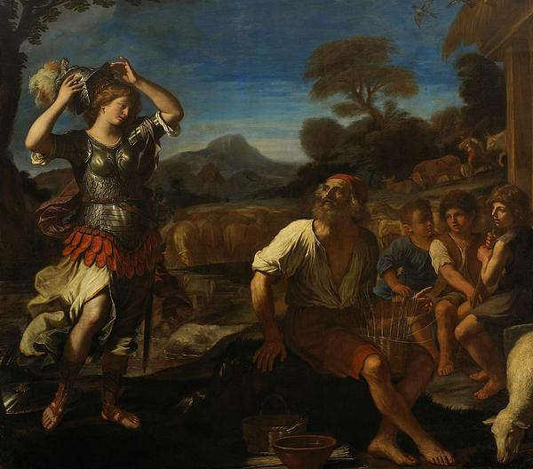 And Painting - Erminia And The Shepherds by Giovanni Francesco Barbieri