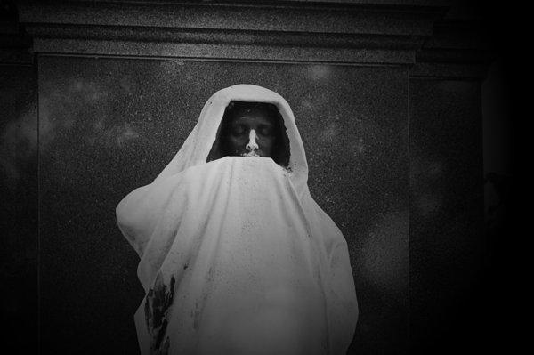 Graveyard Photograph - eternal Silence- Graceland Cemetery Chicago by Christine Till