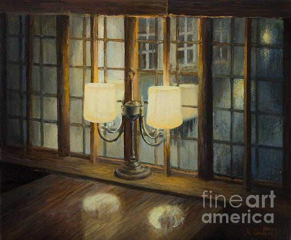 Artistic Painting - Evening For Two by Kiril Stanchev