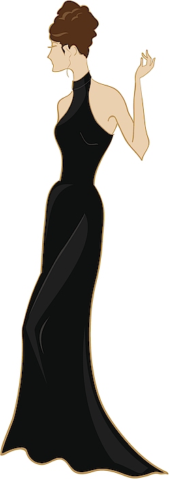 Evening Gown And Updo Drawing by Dhanford