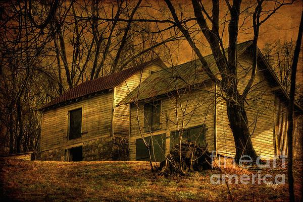 Barn Photograph - Evening Twilight Fades Away by Lois Bryan