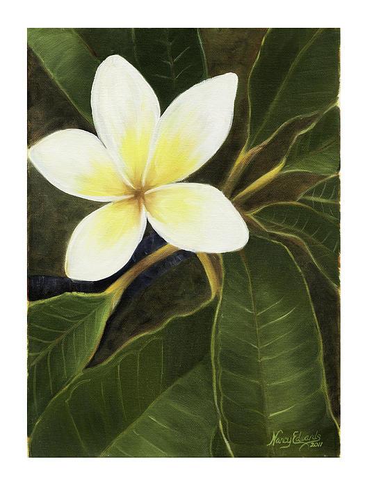 Hawaiian Flowers Painting - Everywhere In Hawaii by Nancy Edwards
