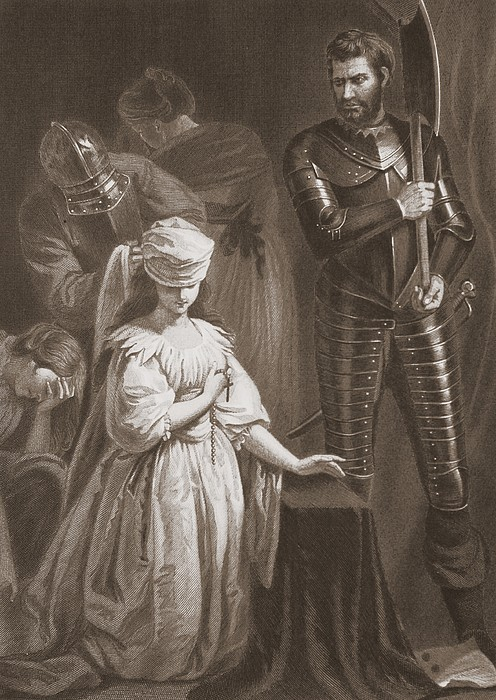 Mary Queen Of Scots Drawing - Execution Of Mary Queen Of Scots by John Opie