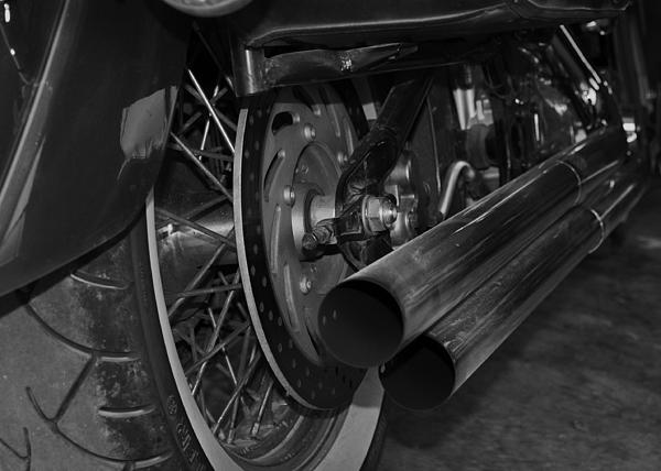 Motorcycle Photograph - Exhaust by Cherie Haines