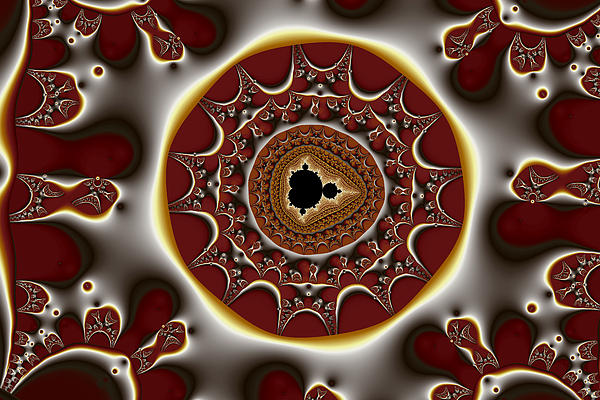Abstract Digital Art - Exiled Mandelbrot No. 8 by Mark Eggleston