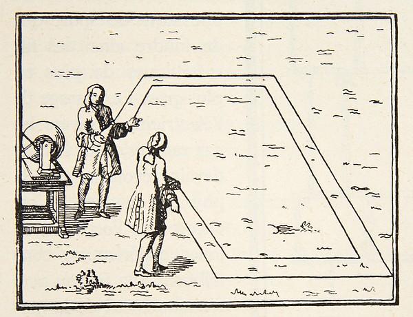 Scientists Drawing - Experience De Le Monnier Sur Lat by French School