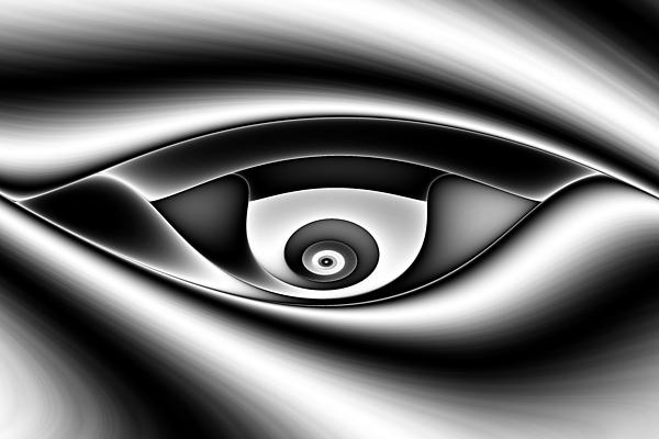 Abstract Digital Art - Eye Of A Stranger No. 1 by Mark Eggleston
