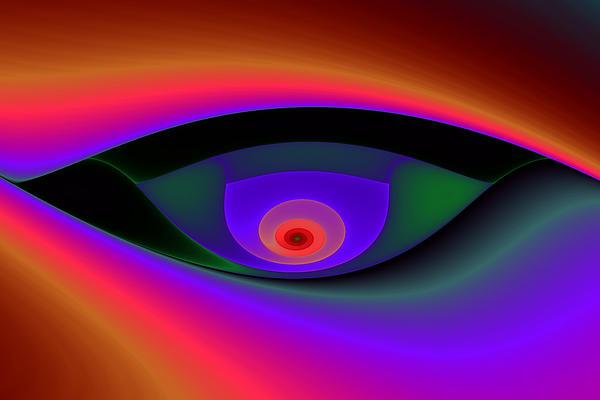 Abstract Digital Art - Eye Of A Stranger No. 2 by Mark Eggleston
