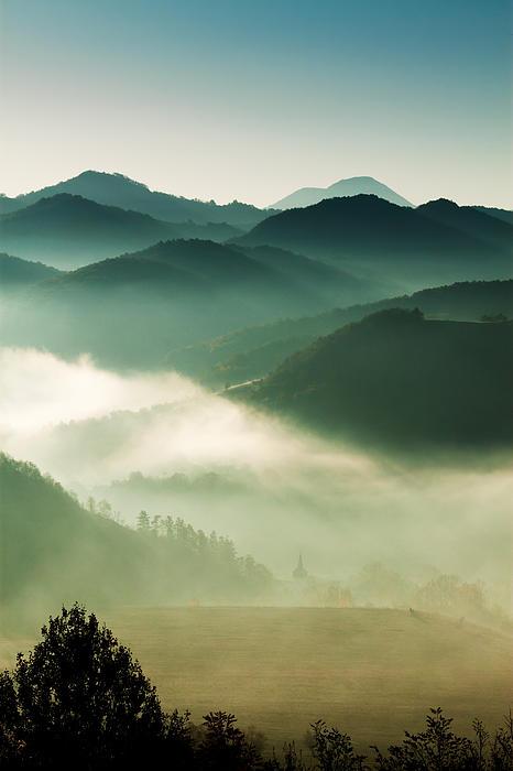 Transylvania Photograph - Fairyland Morning by Mircea Costina Photography