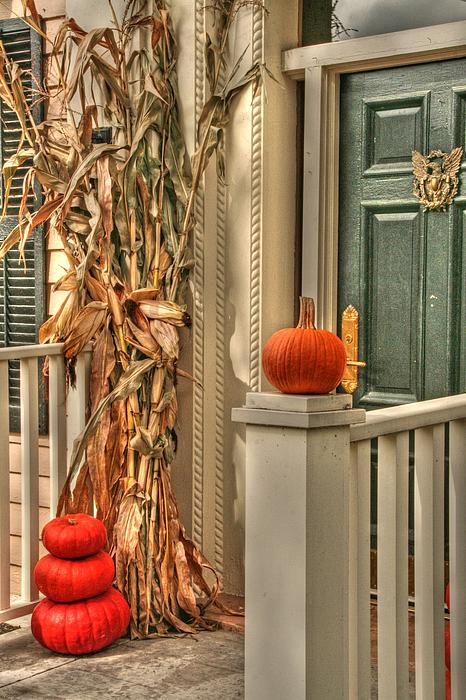 House Photograph - Fall Welcome by Heather Allen