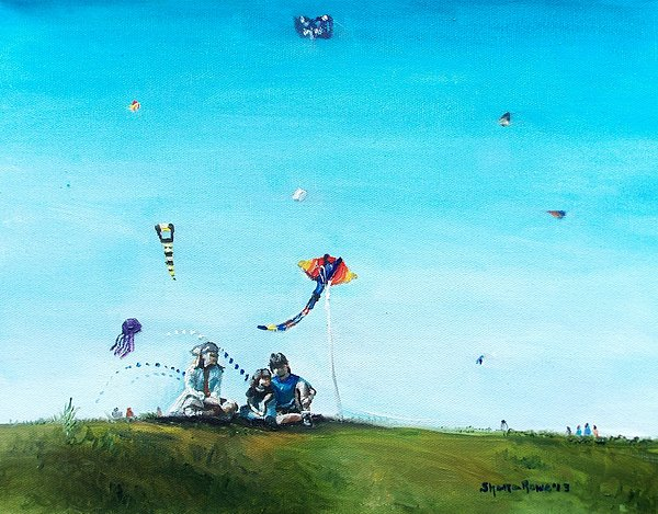 Kids Painting - Family Outing by Shana Rowe Jackson