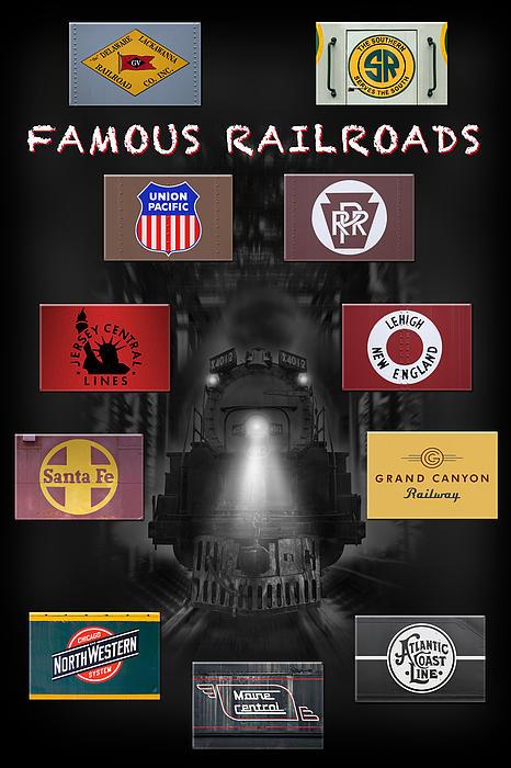 Transportation Photograph - Famous Railroads by Mike McGlothlen