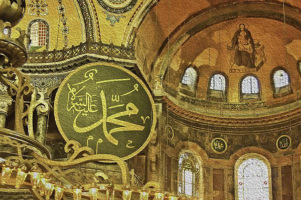 Arch Photograph - Famous The Hagia Sophia by Dragomir Nikolov