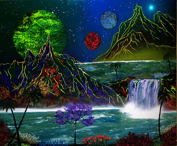 Heaven Painting - Fantasy Planets by Michael Rucker