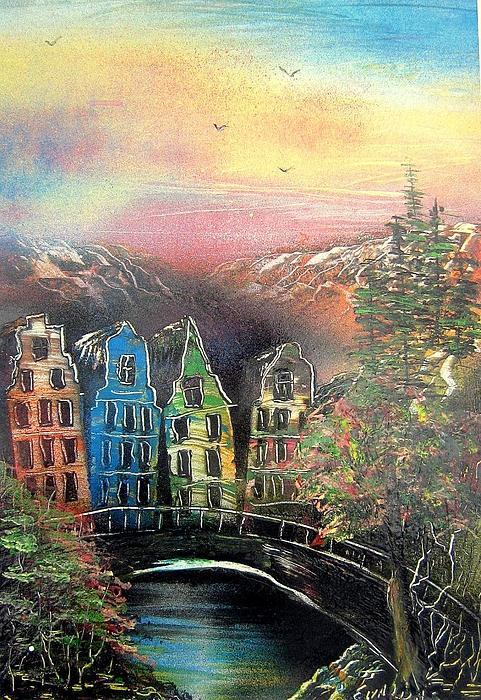 Landscape Painting - Far Far Away by Evaldo Art