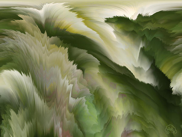Abstract Digital Art - Feathered Hills And Valleys by Patricia Kay