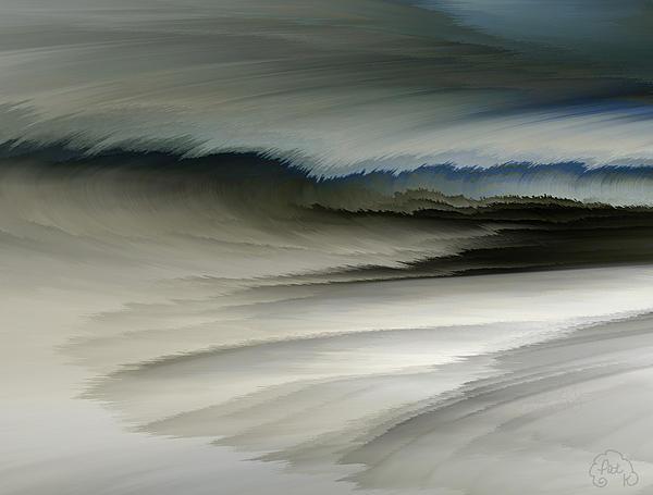 Digital Art Digital Art - Feathered Seascape by Patricia Kay