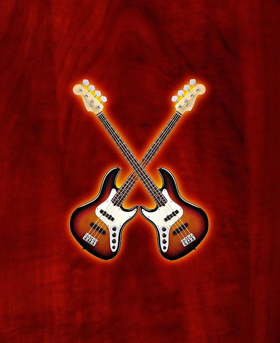 Fender Digital Art - Fender Jazz Bass Lefty by Doron Mafdoos