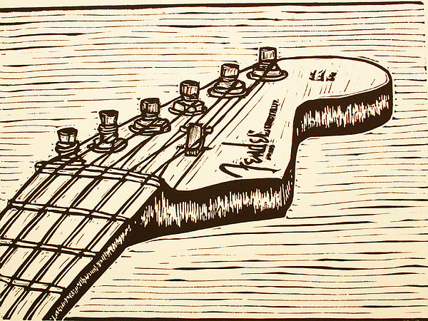 Fender Drawing - Fender Strat by William Cauthern