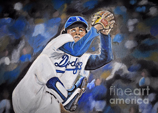 Oil Painting Photograph - Fernando Valenzuela by Nava Thompson