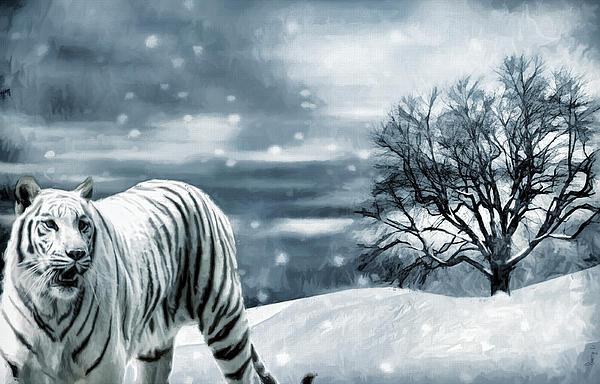Tiger Photograph - Ferocious Beauty by Lourry Legarde