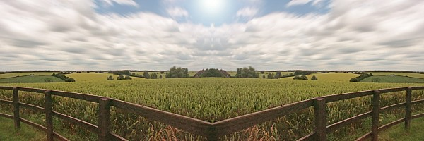 Light Photograph - Field And Sky, South England by Vast Photography