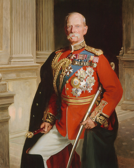 Three-quarter Length Painting - Field Marshal Lord Roberts Of Kandahar by Frank Markham Skipworth