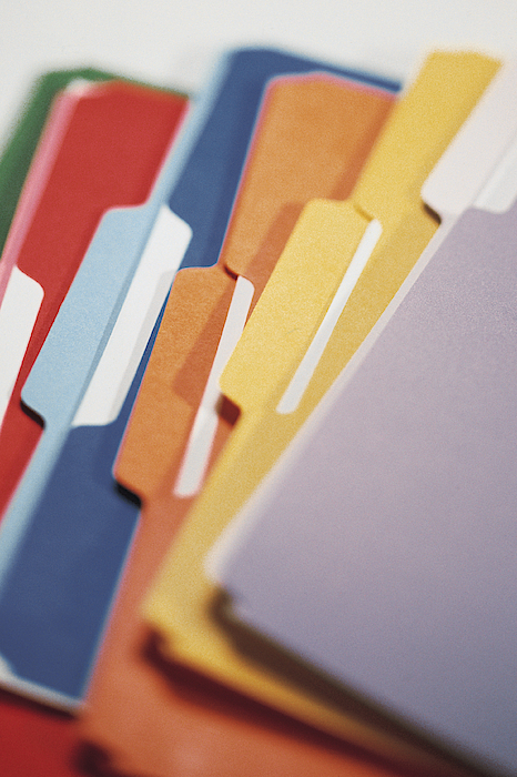 File Folders Photograph by Comstock