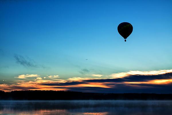 Hot Air Balloon Photograph - Final Flight - Hot Air Balloon Ride by Gary Smith
