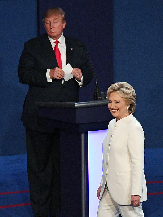 Final Presidential Debate Between Hillary Clinton And Donald Trump Held In Las Vegas Photograph by Ethan Miller