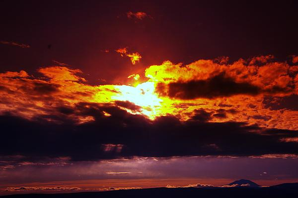 Sun Photograph - Fire In The Clouds by Jeff Swan