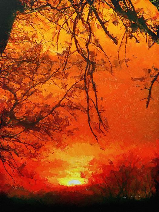 Tree Painting - Fire In The Sky by Jeffrey Kolker