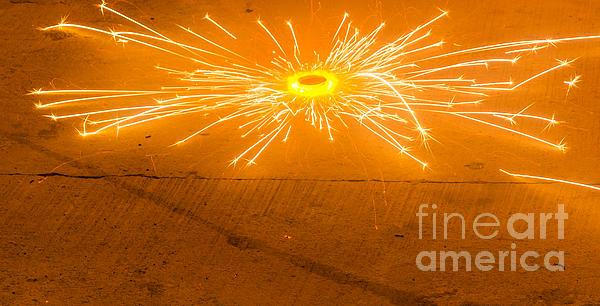 Diwali Photograph - Firework Wheel by Image World