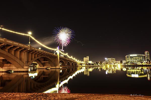 Tempe Photograph - First Shot Of The Year by Bill Cantey