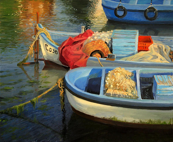 Artistic Painting - Fishermans Etude by Kiril Stanchev