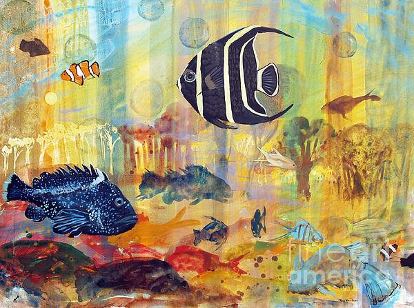 Fishes Painting - Fishes by Robin Maria Pedrero