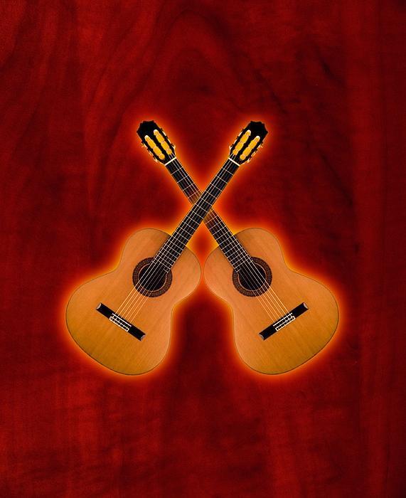 Flamenco Digital Art - Flamenco  Guitar  by Doron Mafdoos