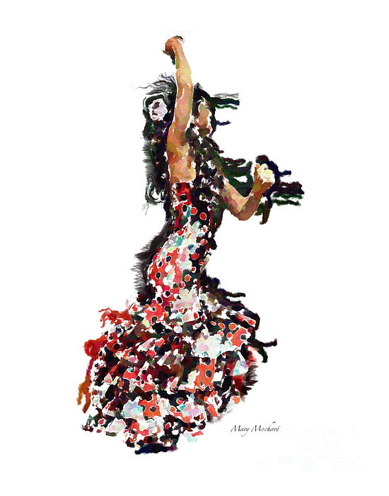 Flamenco Photograph - Flamenco Series #12 by Mary Machare