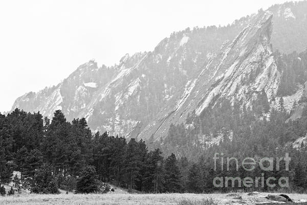 Flatirons Photograph - Flatiron In Black And White Boulder Colorado by James BO  Insogna