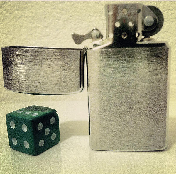 Dice Photograph - Flicker by Gabe Arroyo