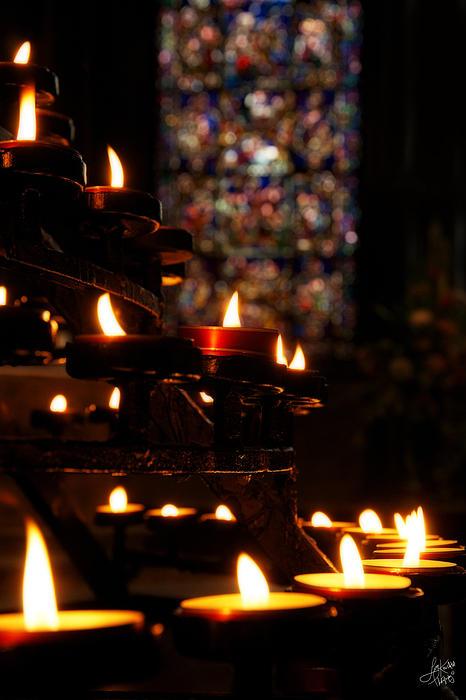 Prayers Photograph - Flickering Prayers by Lisa Knechtel