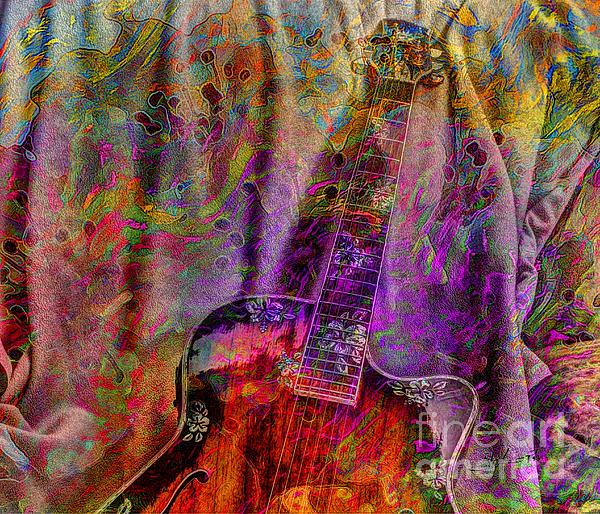 Acoustic Photograph - Flower Power Digital Guitar Art By Steven Langston by Steven Lebron Langston