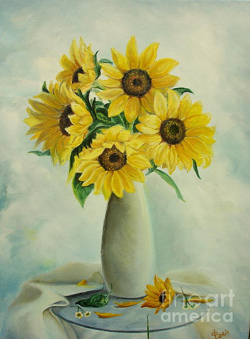 Flowers Painting - Flowers For You by Sorin Apostolescu