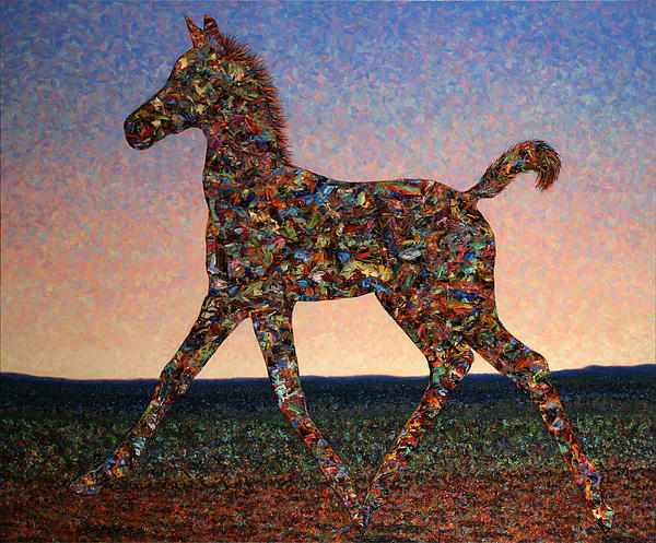 Foal Painting - Foal Spirit by James W Johnson