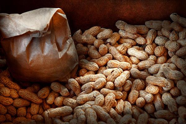 Peanuts Photograph - Food - Peanuts  by Mike Savad