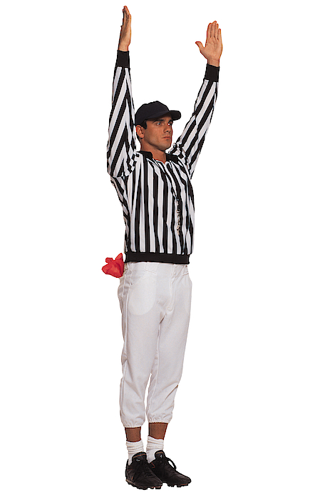 Football Referee Signaling Touchdown Photograph by Comstock
