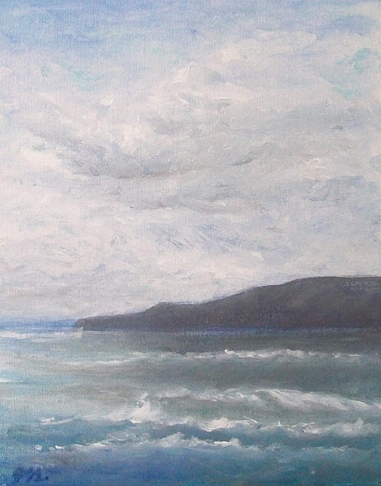 Seascape Painting - Force Of Nature 3 by Jane  See